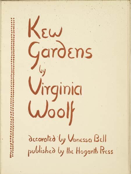Kew Gardens Ed Hogarth Press Virginia Woolf